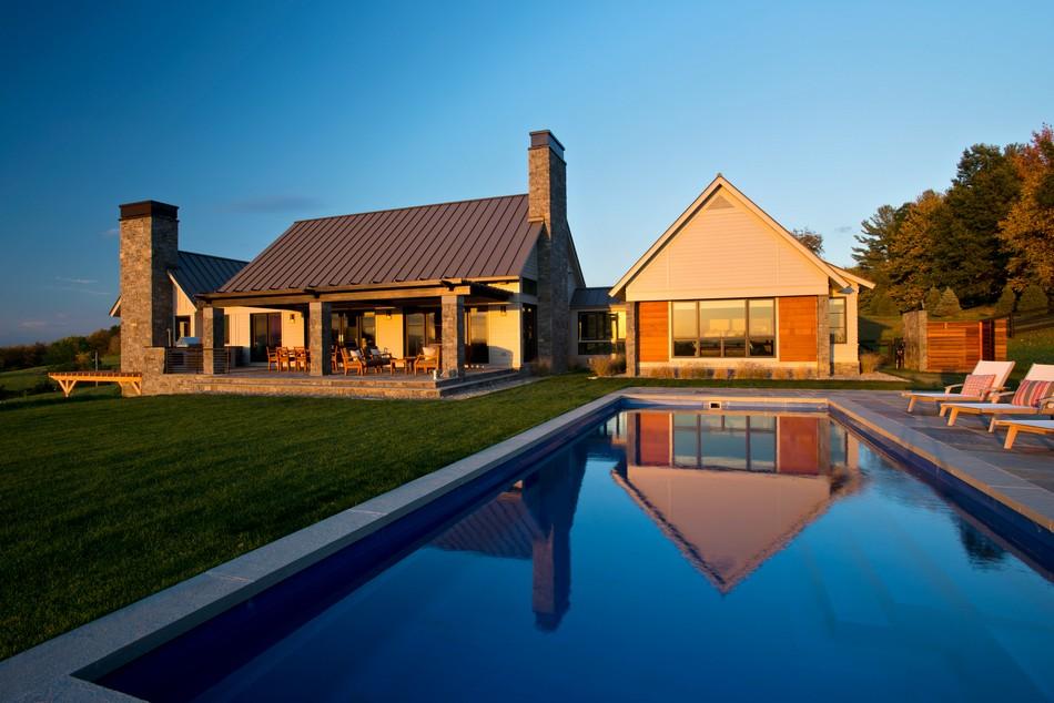 загородный дом с бассейном фото