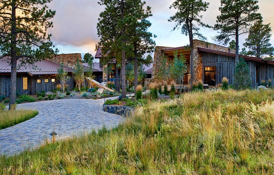 красивый загородный дом фото