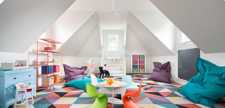 Красочные детские игровые комнаты: 17 идей