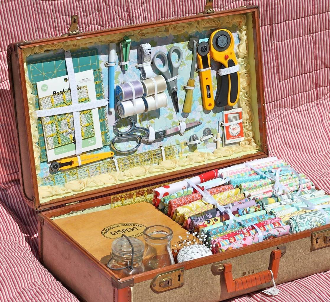 Швейный чемоданчик: мастер-класс