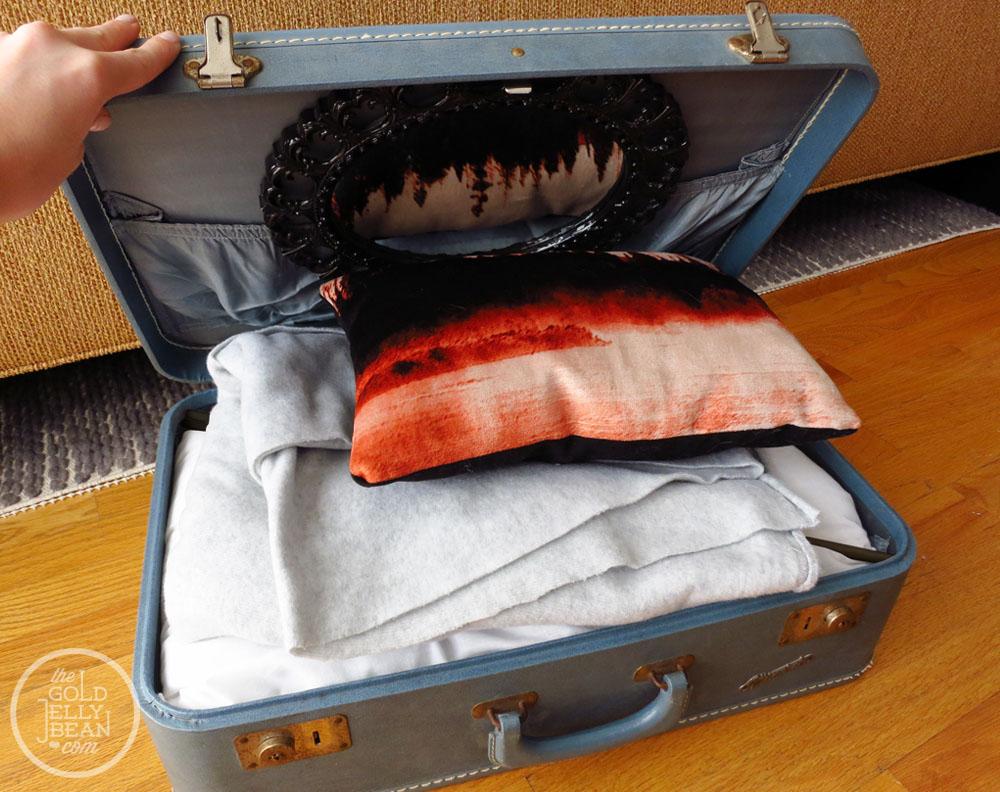 старый чемодан декор