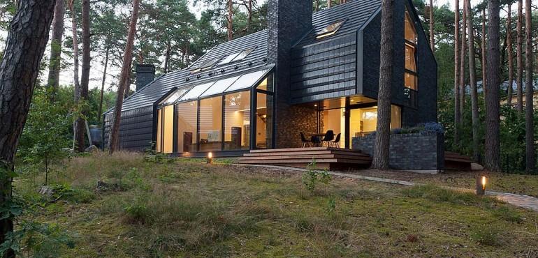 Уникальный черный дом из Латвии