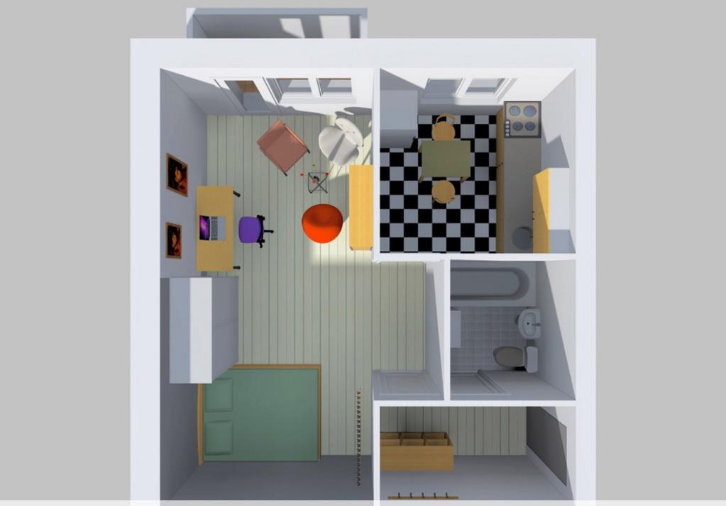 план однокомнатной квартиры