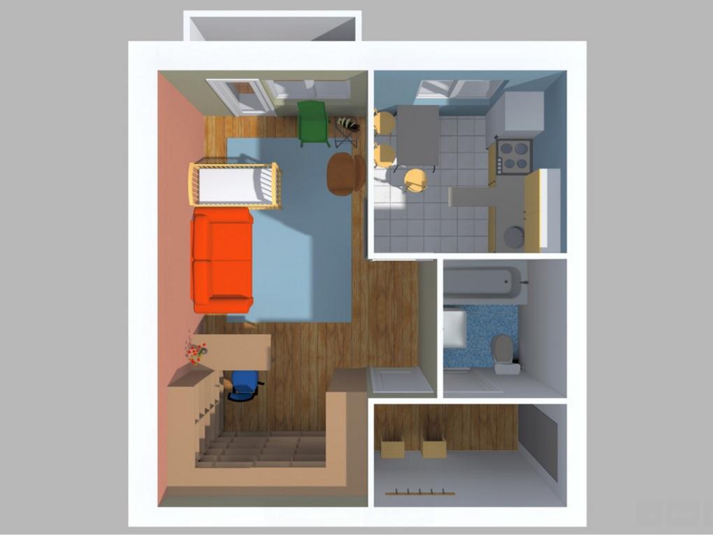 планировки однокомнатных квартир