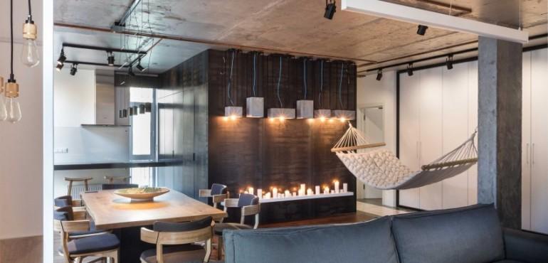 Квартира-студия в промышленном стиле из Киева