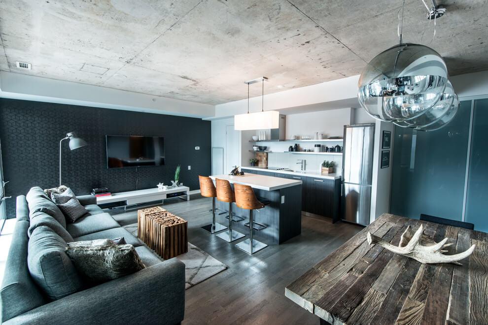 Квартира в промышленном стиле от Lux Design