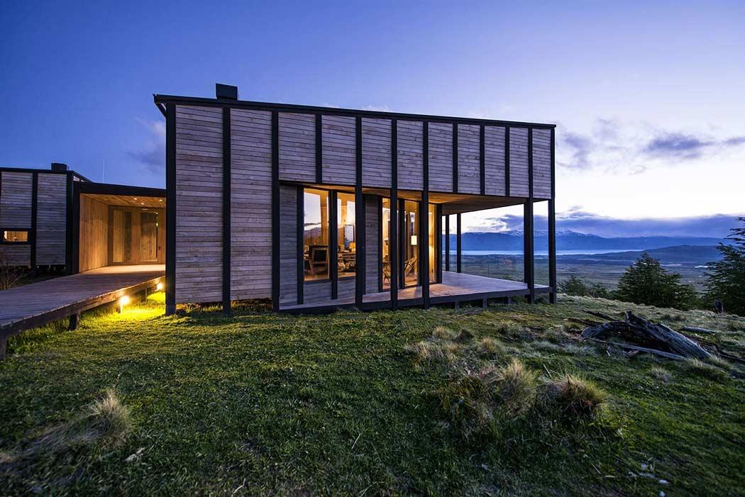 Уютный деревянный дом в заповедной части Чили
