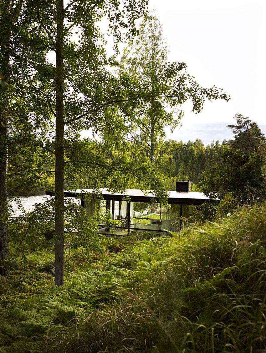 дом у озера картинки