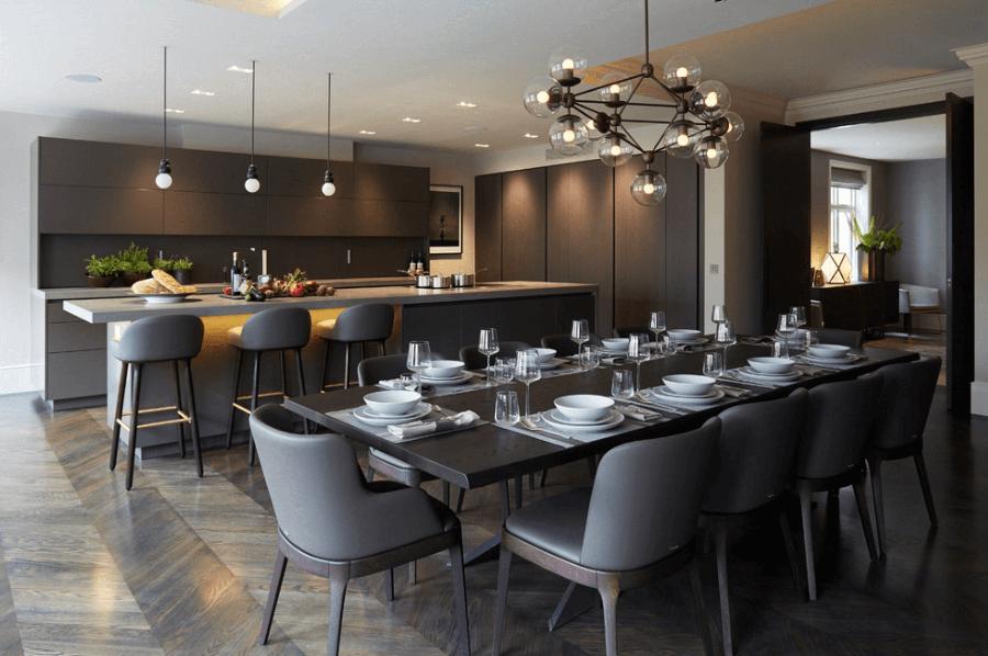 Дизайн кухні-їдальні: 12 ідей з оформлення