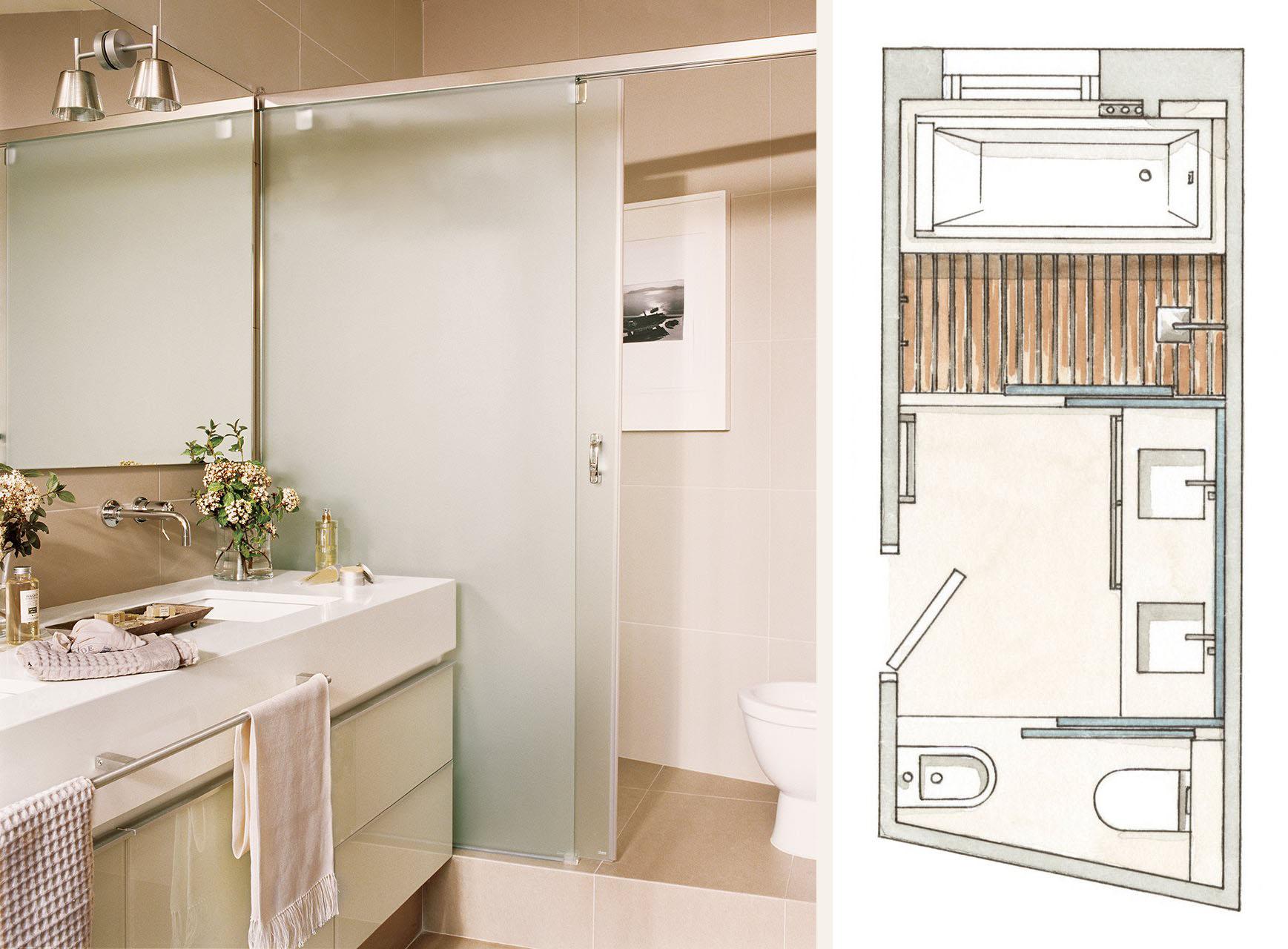 Дизайн ванная комната 8 кв.м.