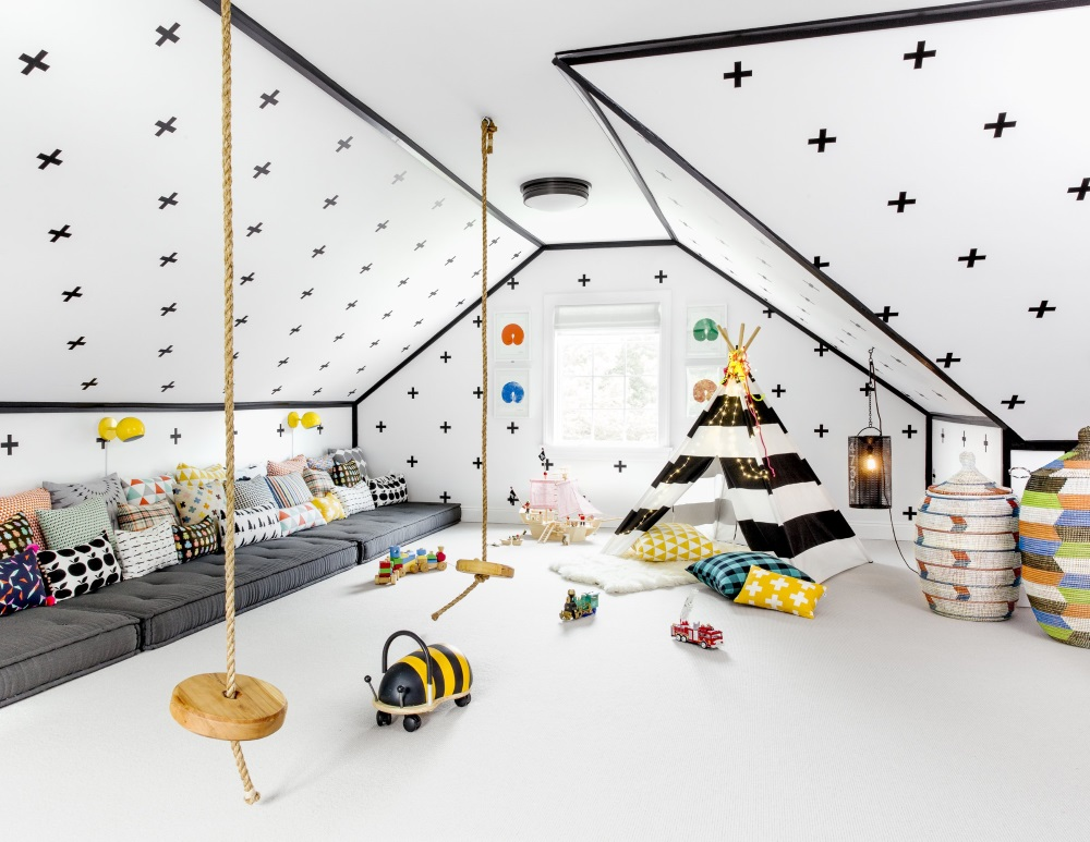 Игровая комната на мансарде