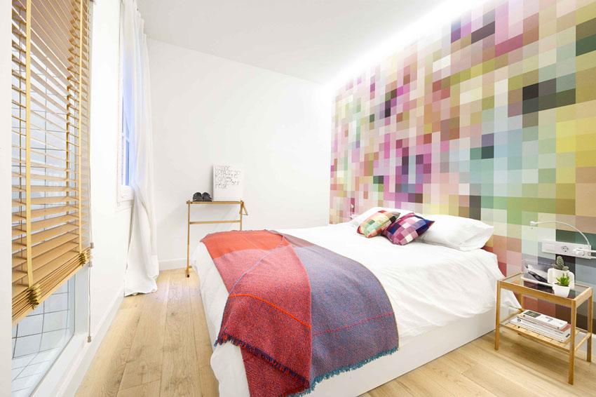 Красочный дизайн квартиры 75 кв. м