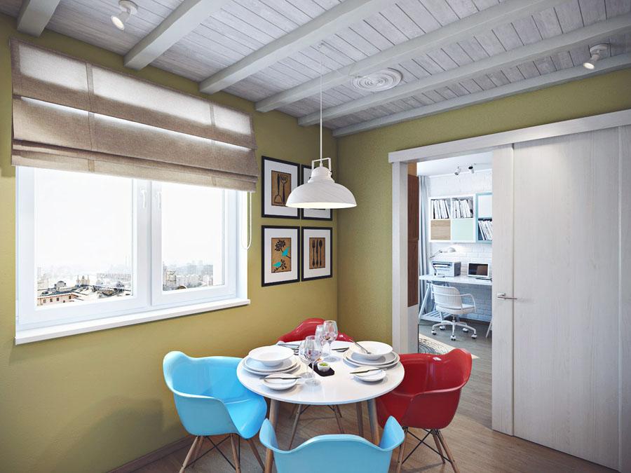 Интерьер кухни черно белого цвета фото