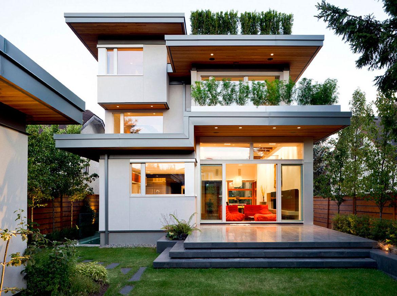 Дизайн дома с плоской крышей