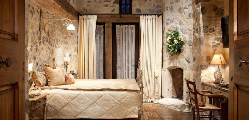 19 романтичных спален с натуральным камнем