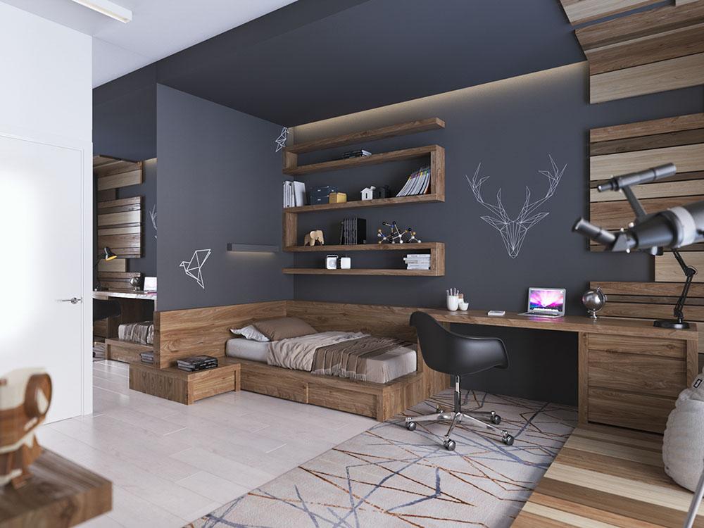 комната для мальчика в стиле лофт