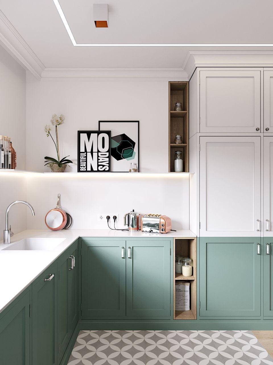 Дизайн кухни-гостиной 16 кв. м