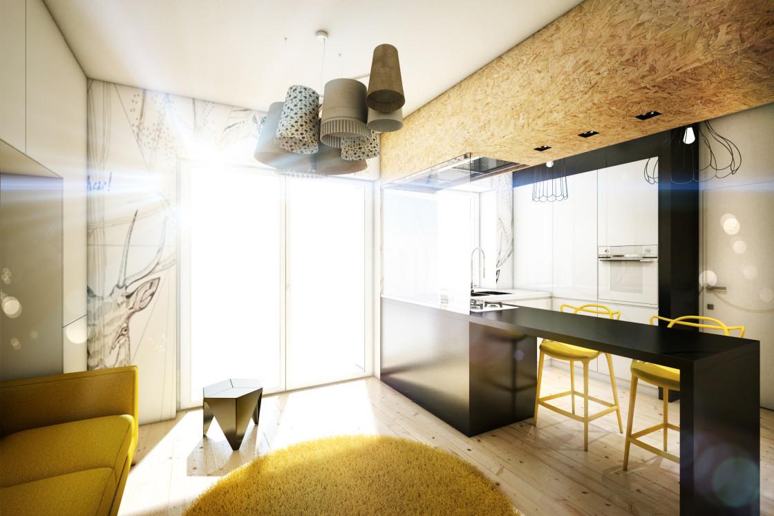 дизайн кухні-вітальні