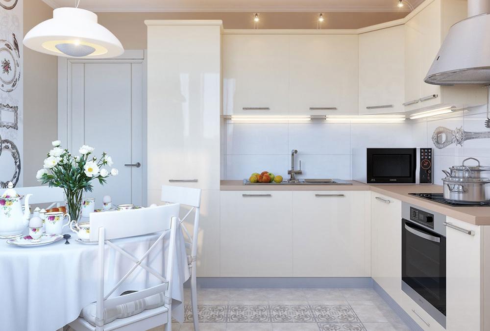 дизайн кухні з вітальнею
