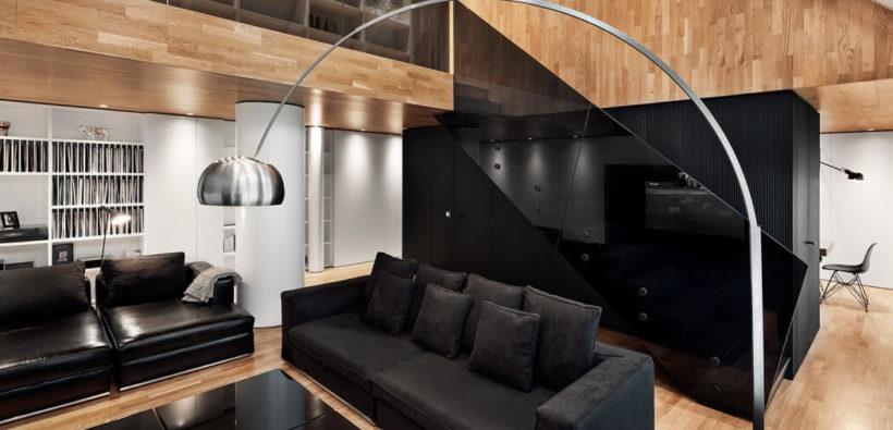 Дизайн квартиры в черном цвете из Софии