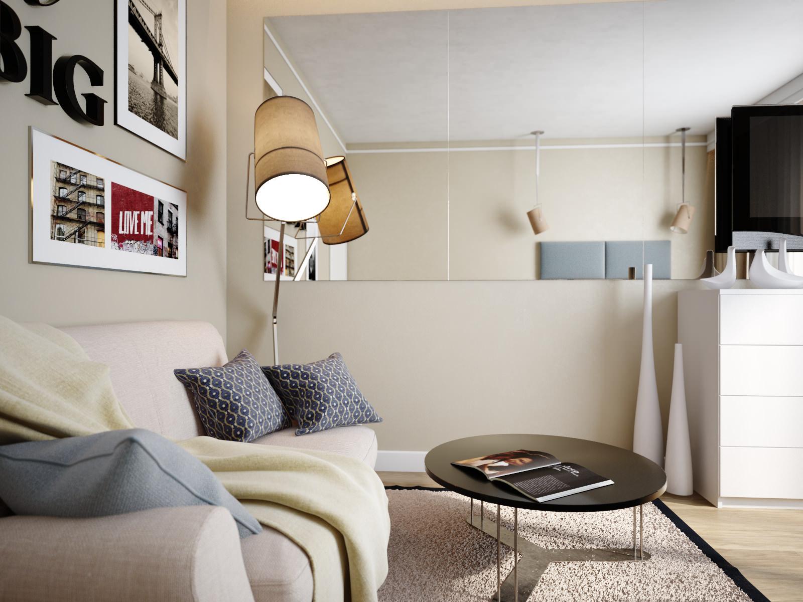 дизайн 1 комнатной квартиры 34 кв м