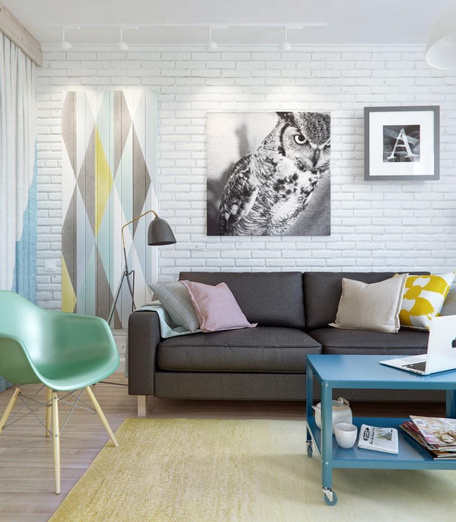 дизайн 1 комнатной квартиры 40 кв