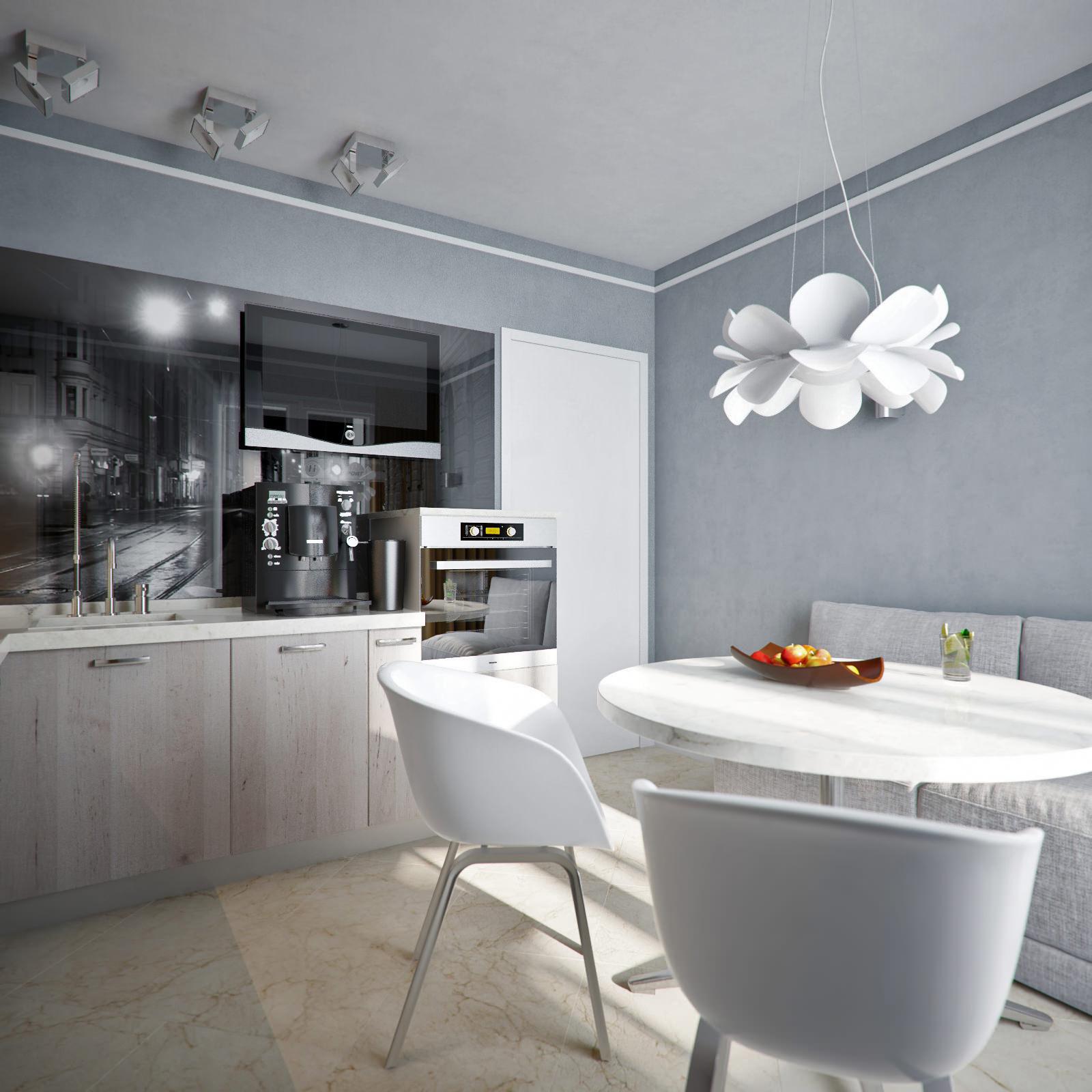 Дизайн однокомнатной квартиры: 40 кв. м фото
