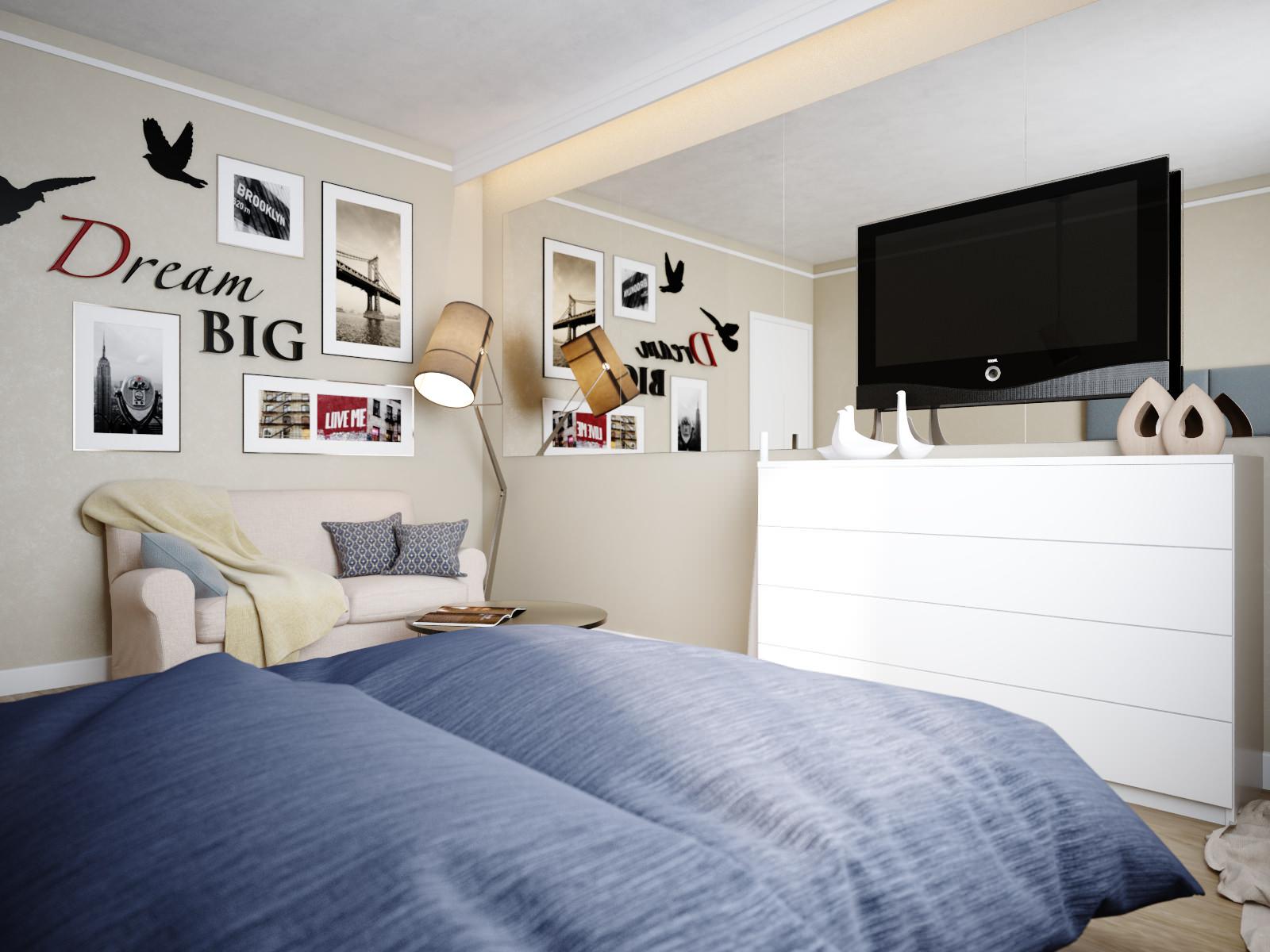 дизайн комнаты 18 кв.м