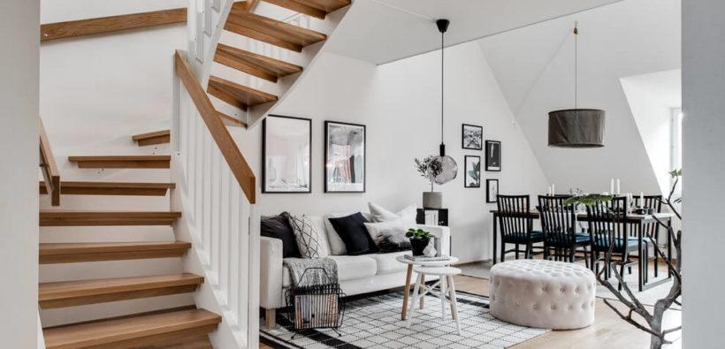 Квартира в скандинавском стиле из Гётеборга