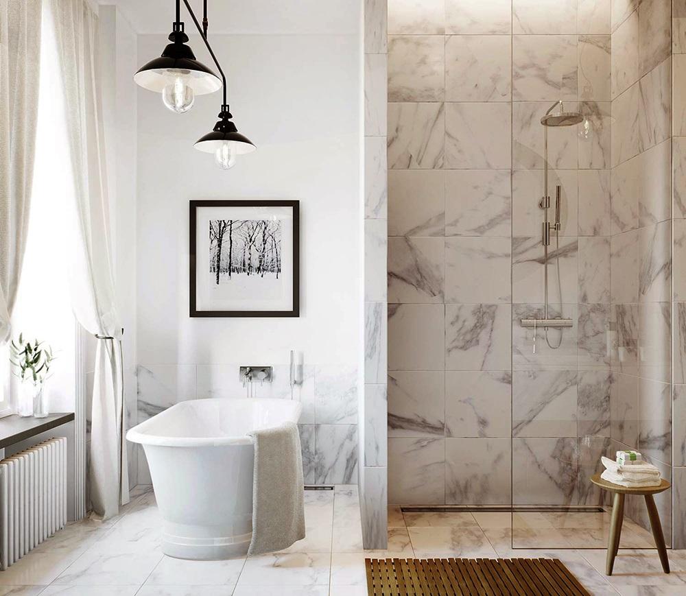 Плитка для ванної кімнати: фото + ідеї
