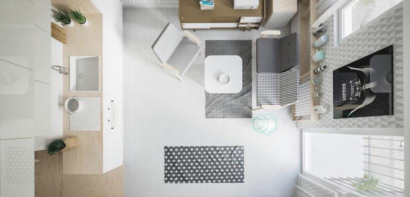 Ремонт однокомнатной квартиры: 20 уютных кв. м