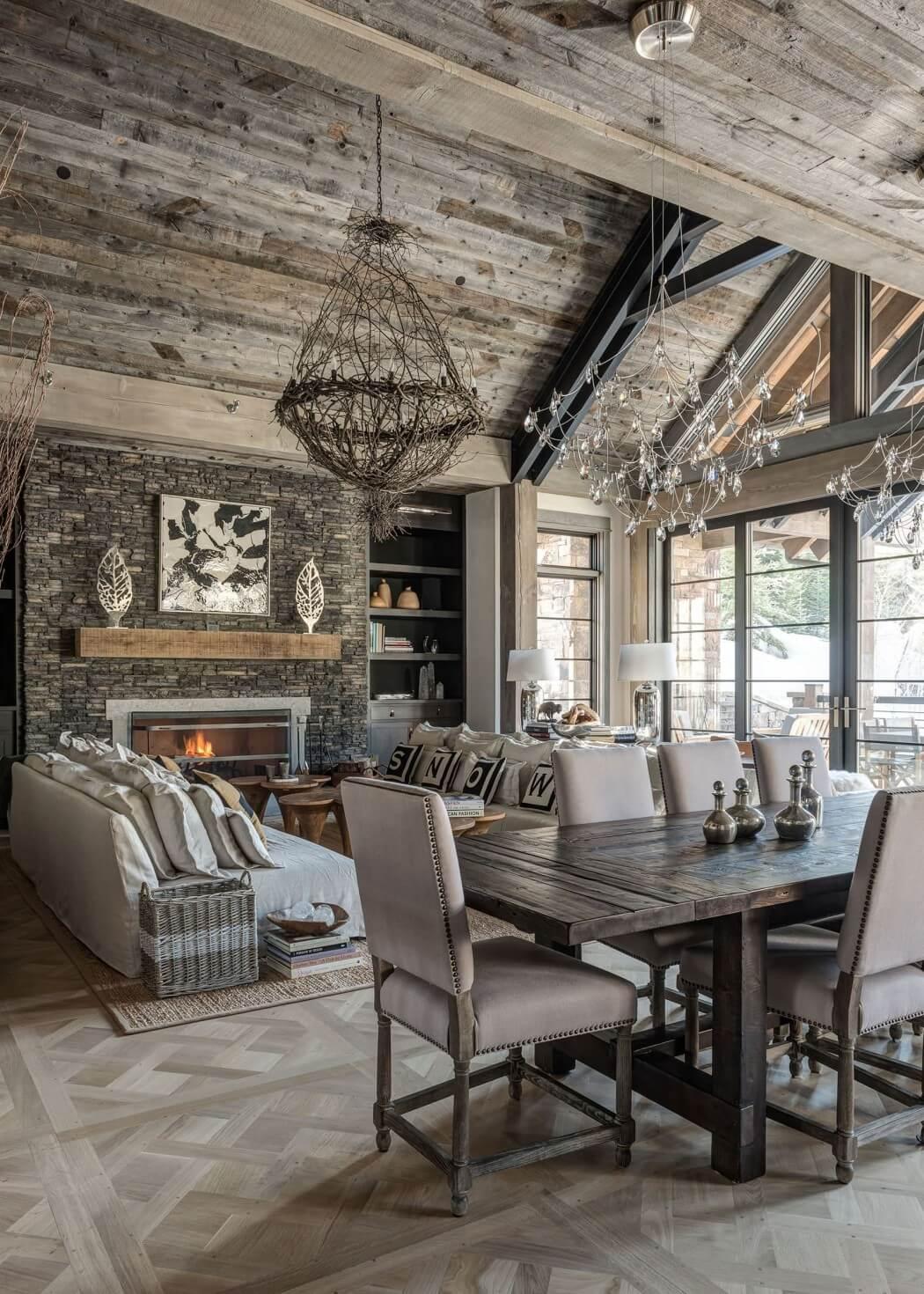 Роскошный деревянный дом из Монтаны