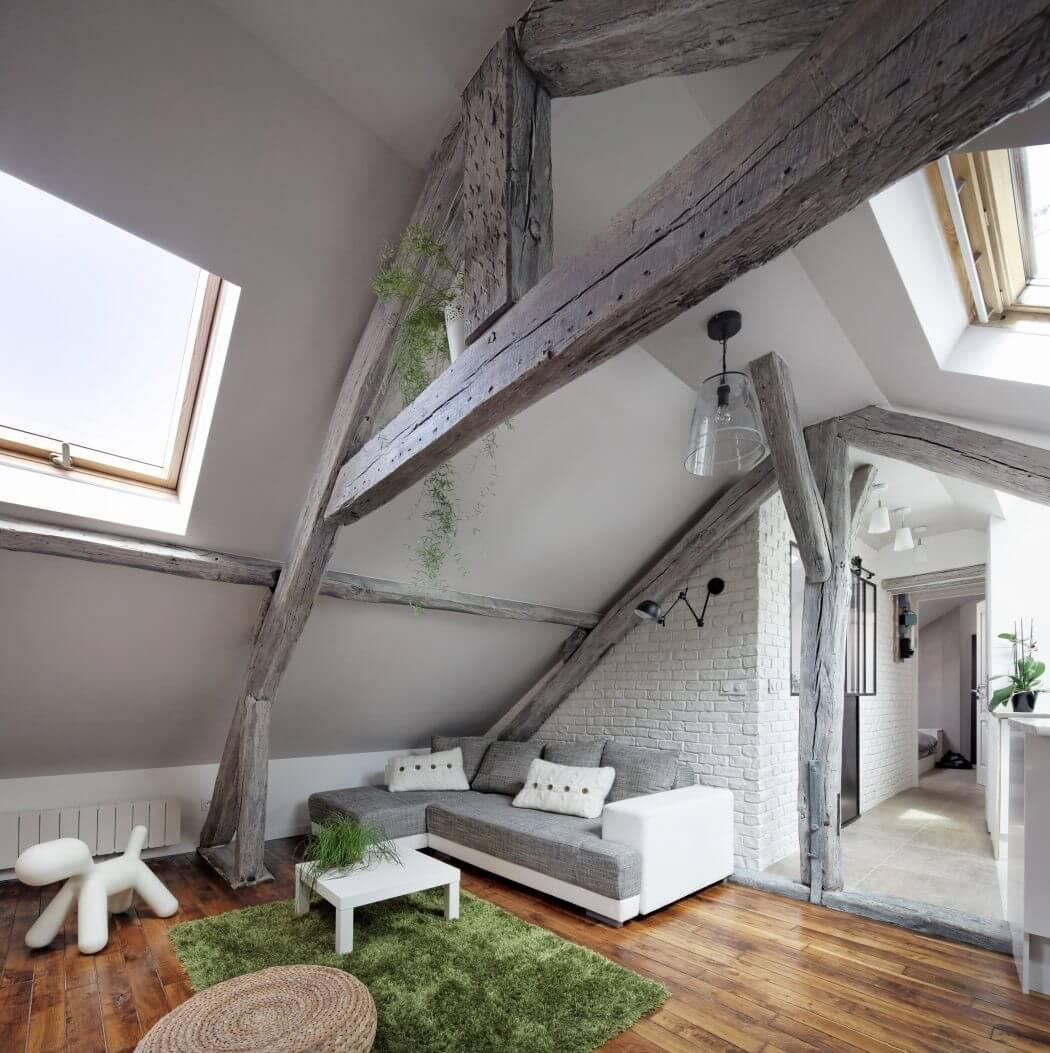 Квартира на мансарде в скандинавском стиле