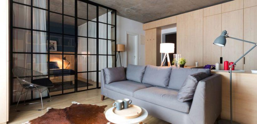 Прекрасная квартира в стиле лофт (50 кв. м)