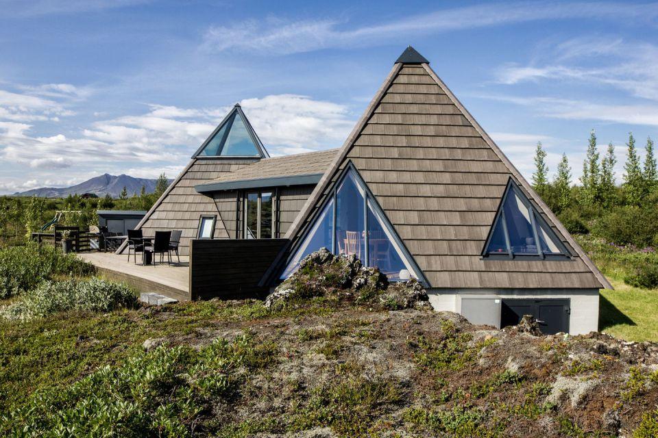 Необычный дом в виде пирамиды из Исландии