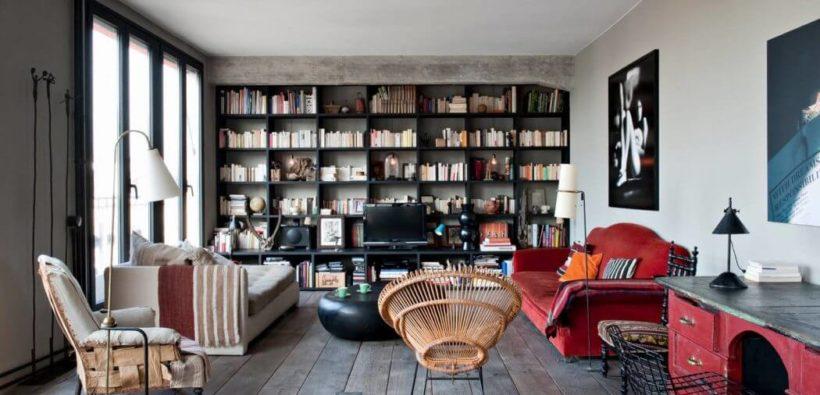 Стильная квартира в промышленном стиле из Парижа