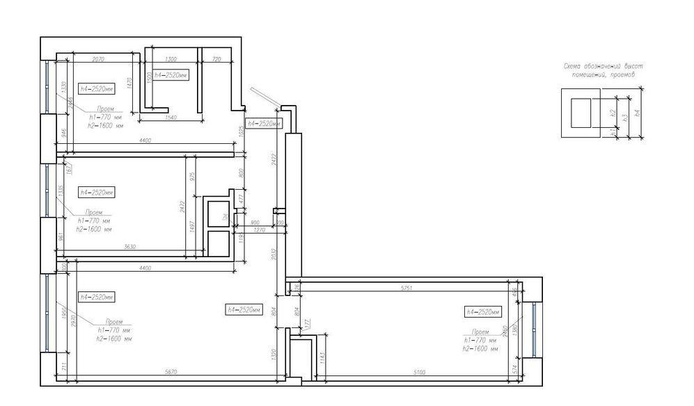 Готовые дизайн проект 3 квартиры проект