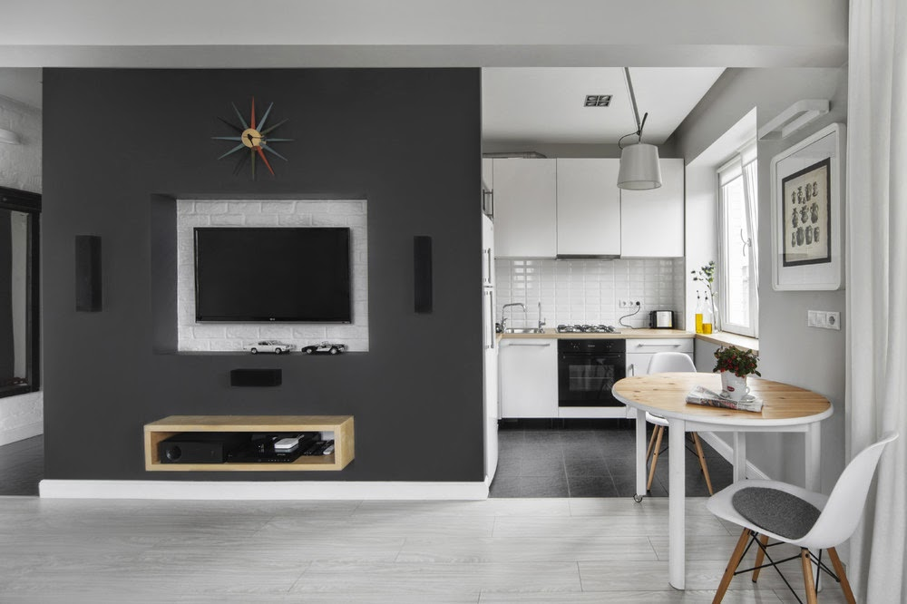интерьер квартиры-студии