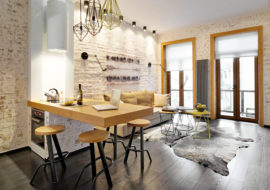 Дизайн однокомнатной квартиры: 17 фото-идей