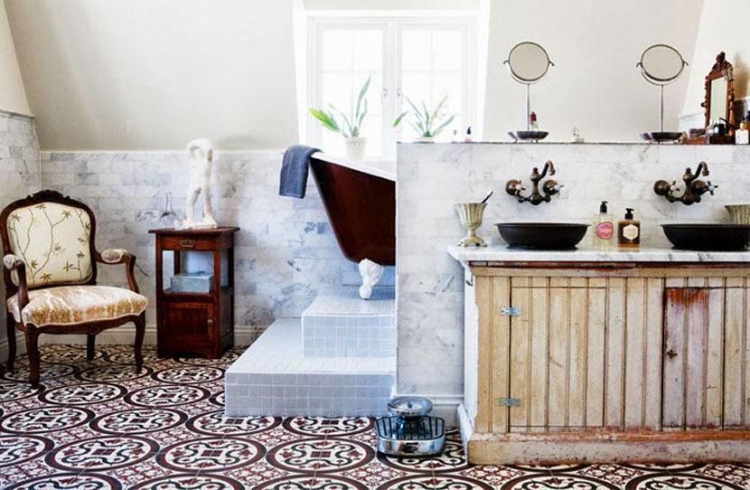 Ванная в стиле французского ретро