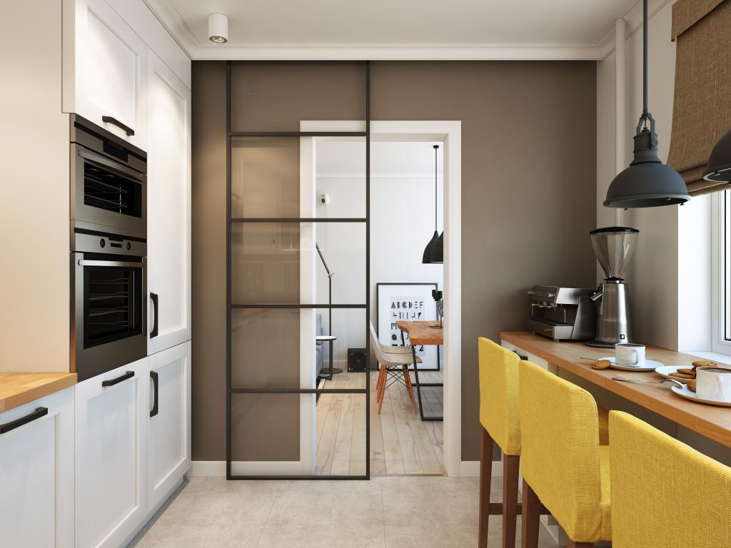 дизайн маленькой кухни с барной стойкой 19 фото идей