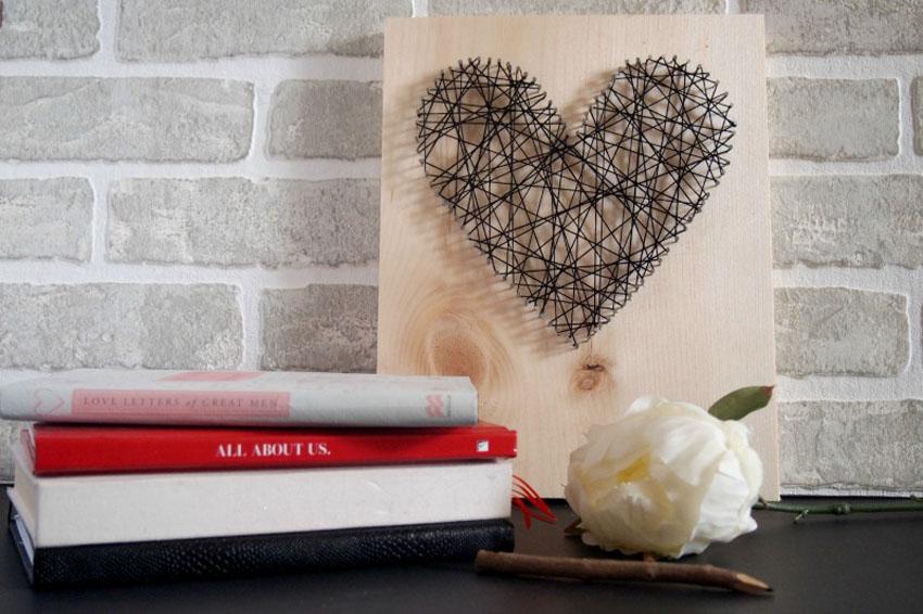 сердце из нитей