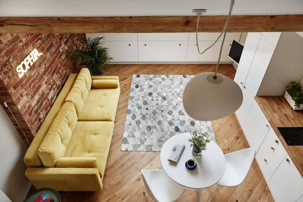 19 кв. м. уюта или квартира на чердаке в Кракове