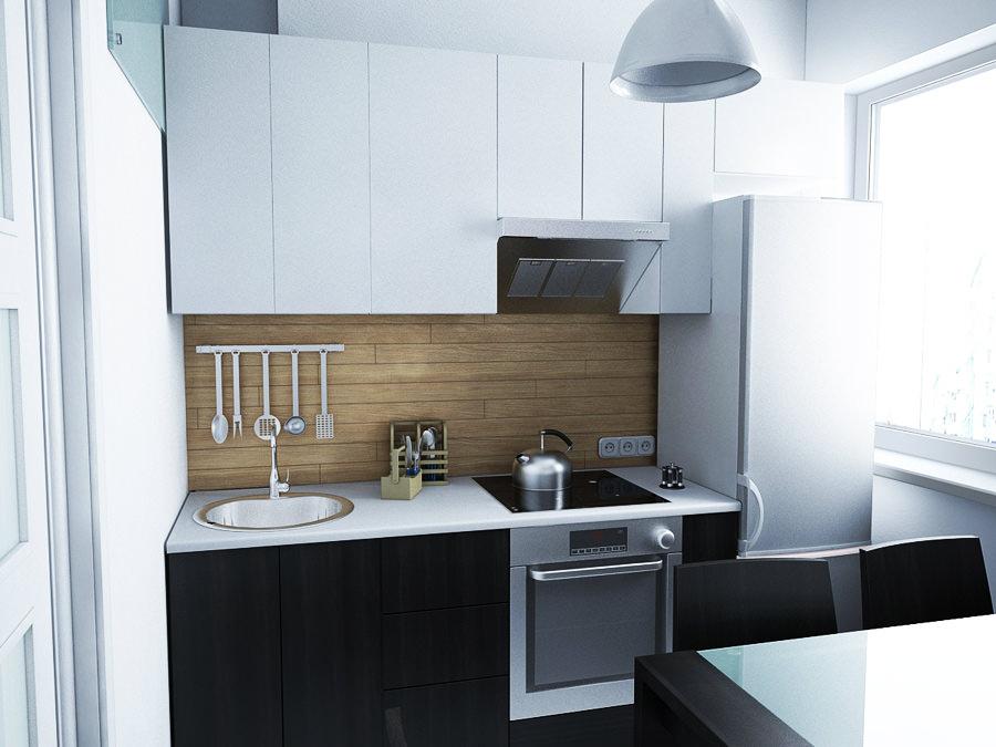 інтер єр маленької кухні в квартирі