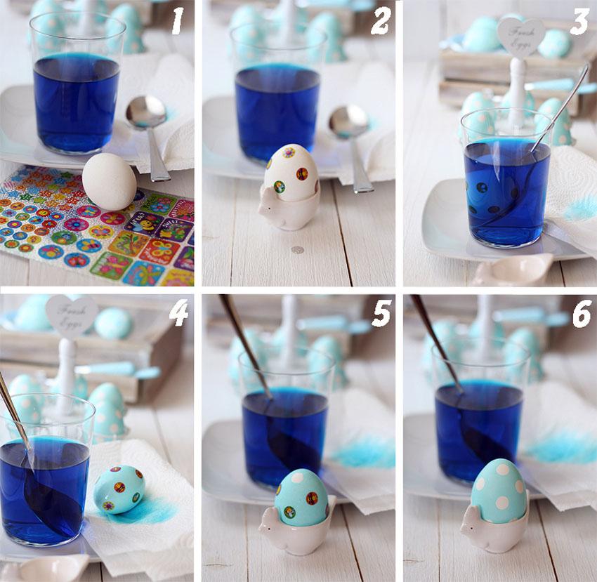 Пасхальные яйца покраска своими руками 48