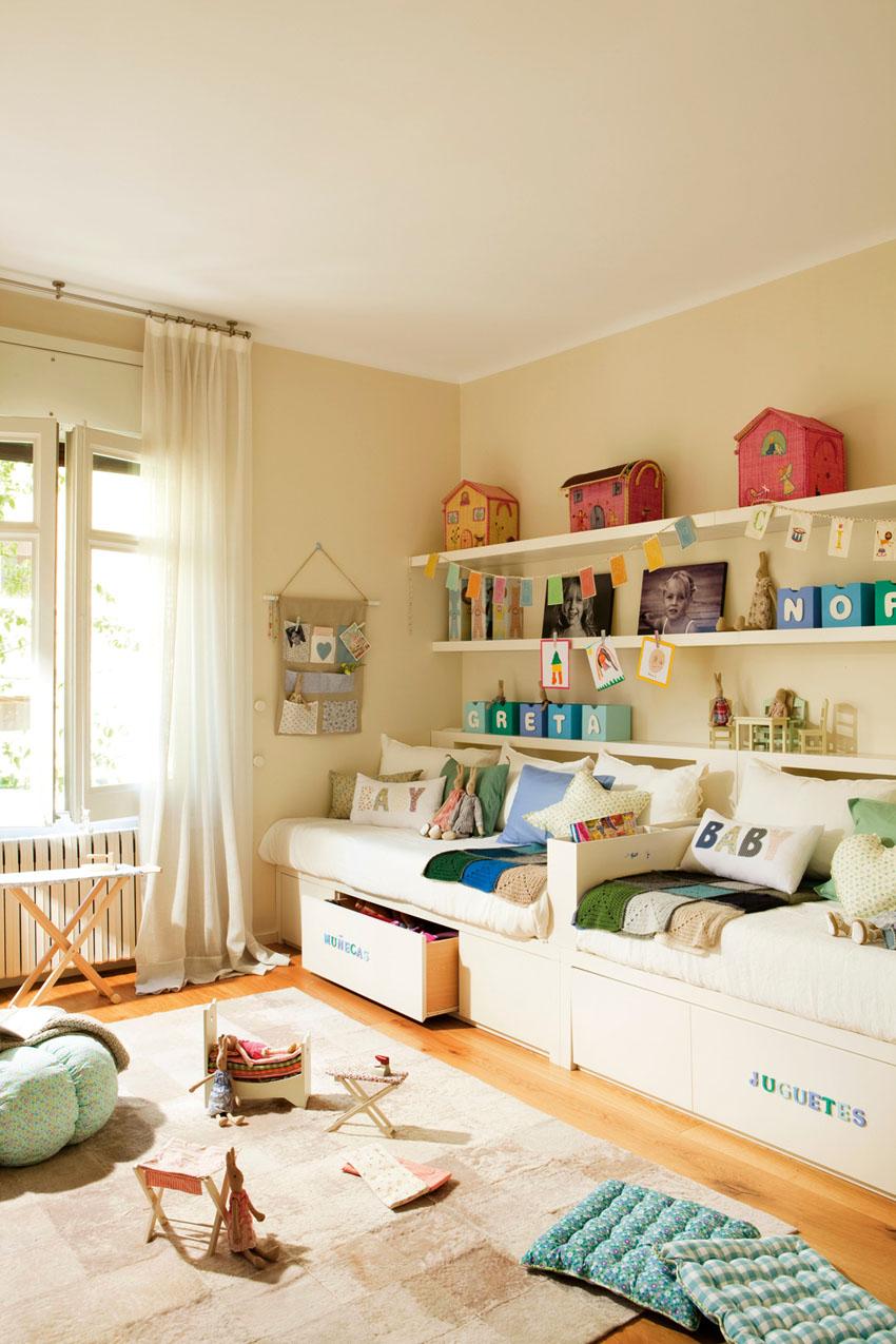 Детская комната для двоих детей: варианты планировки и фото 41