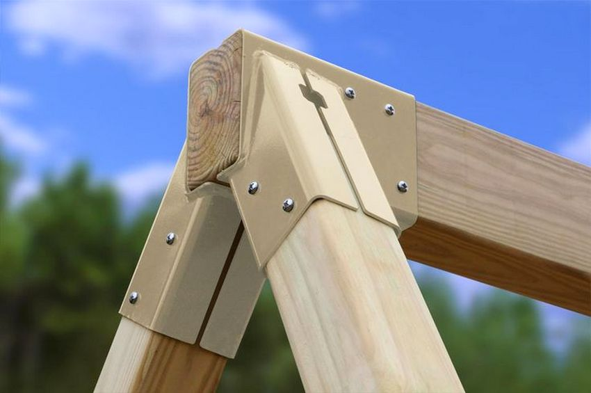 дерев яні гойдалки