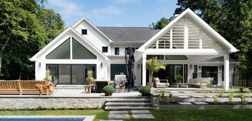Красивый дом с б ассейном от Z + Architects