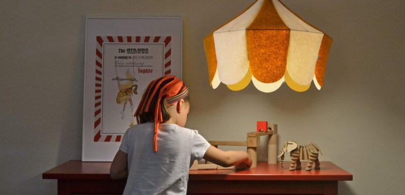 Шикарный светильник в виде циркового купола