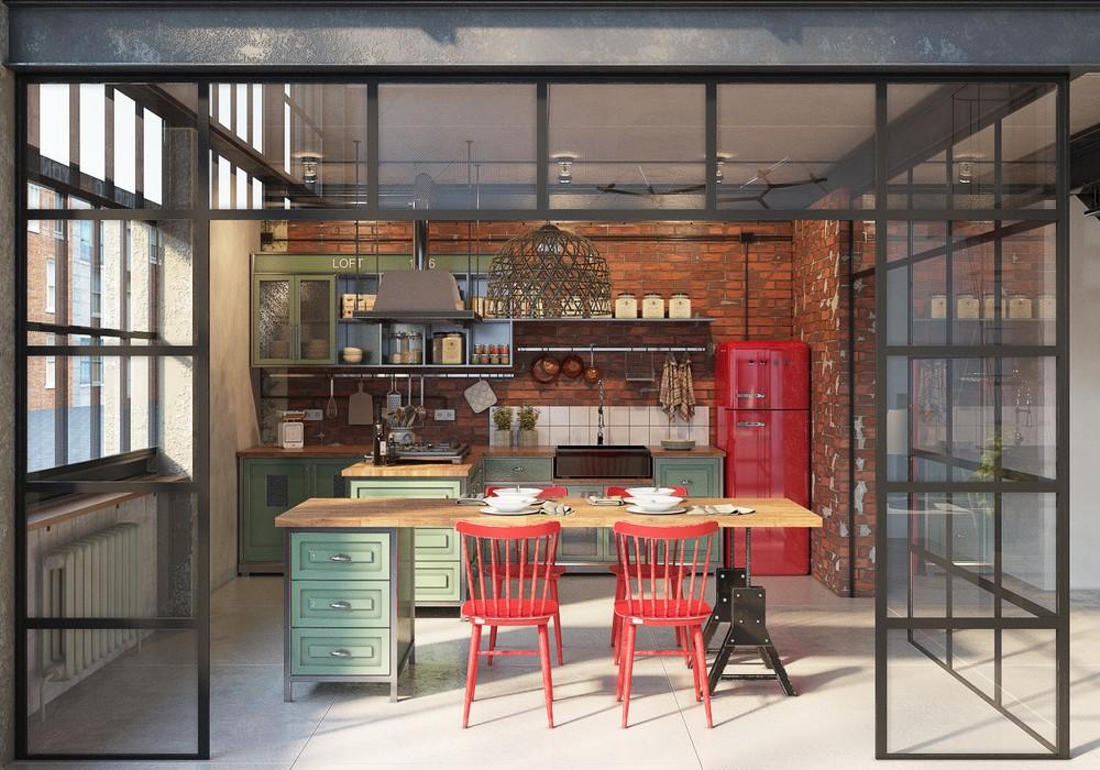 Швейная фабрика: квартира в промышленном стиле